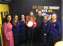Transition year students visit Today Fm